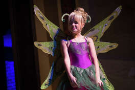 Tinker Bell played by Georgiana Lewis goes through lines during a rehearsal for Peter Pan on Tuesday, July 25, 2017, at the Crighton Theatre in Conroe. Peter Pan will be performed by the students of the Crighton Theatre Summer Camp from Aug. 3-6.