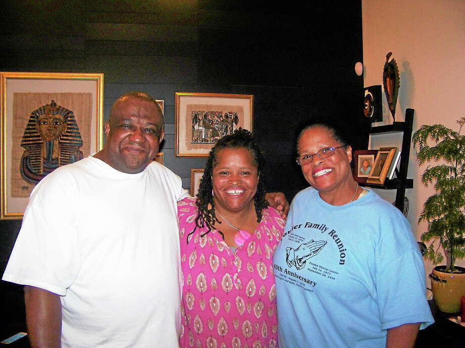DeBoise, Ray and Radcliffe-Lynes reunite for the first time in 46 years in New Haven. Contributed photo. Photo: Journal Register Co.