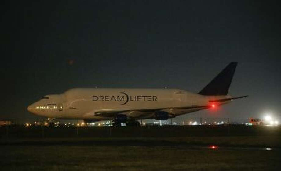 Boeing says the Boeing 747 LCF Dreamlifter landed safely at Jabara, about eight miles from McConnell Air Force Base in Wichita where it was supposed to land.
