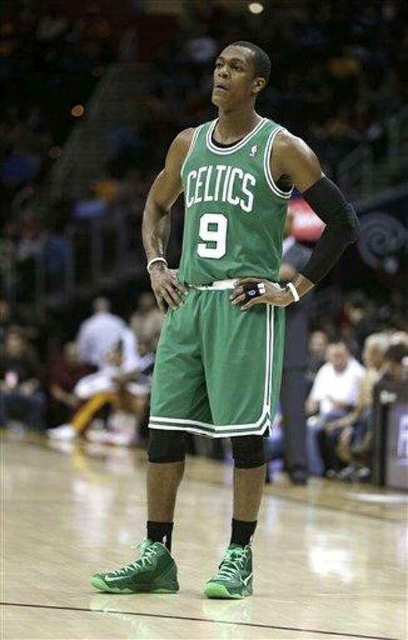 Boston Celtics' Rajon Rondo. (AP Photo/Tony Dejak) Photo: ASSOCIATED PRESS / AP2013