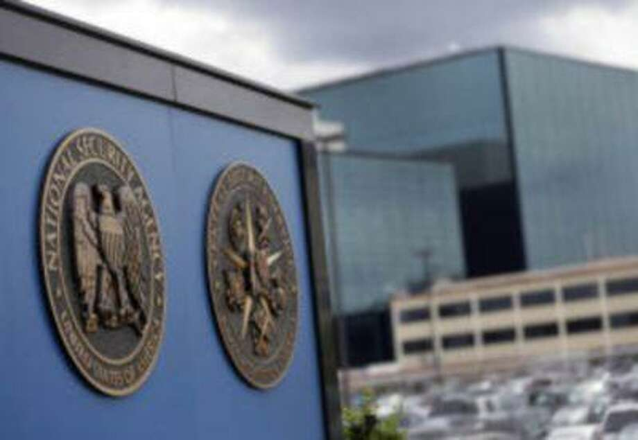 """A sign stands outside the National Security Administration (NSA) campus in Fort Meade, Md., Thursday, June 6, 2013. The Obama administration on Thursday defended the National Security Agency's need to collect telephone records of U.S. citizens, calling such information """"a critical tool in protecting the nation from terrorist threats."""" Photo: AP / AP net"""