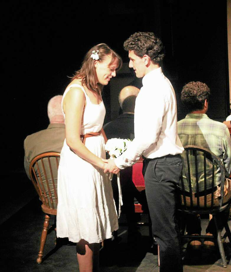 """Mallory Pellegrino (Emily Gibbs) and Christian Shaboo (George Gibbs) in a scene from """"Our Town."""" Photo: Contributed Photo"""