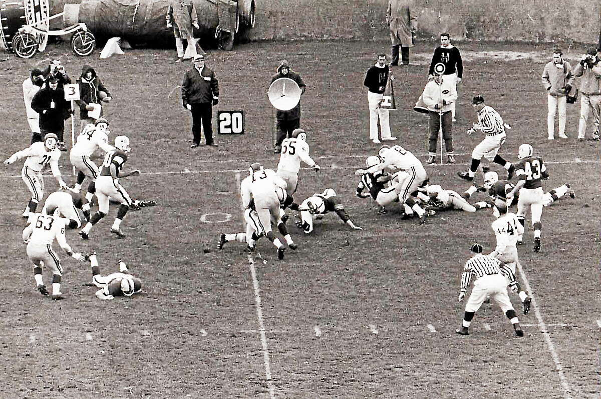 Yale beat Harvard 20-6 in the 1963 rendition of The Game, which was delayed a week because of President John F. Kennedy's assassination.