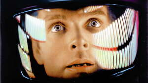 "Keir Dullea, here as scientist David Bowman in Stanley Kubrick's 1968 classic ""2001: A Space Odyssey,"" is in New Haven Sunday."