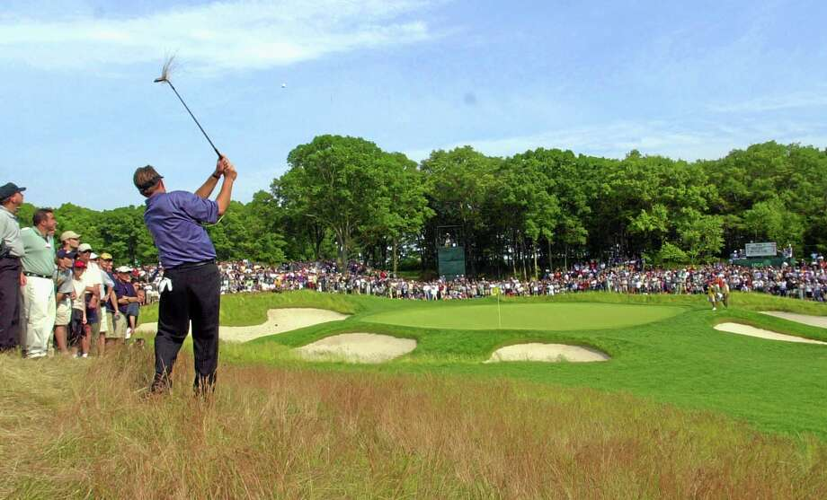 In this June 16, 2002, file photo, Phil Mickelson hits to the fifth green from the rough during the final round of the U.S. Open at the Black Course of Bethpage State Park in Farmingdale, N.Y. The PGA of America announced Tuesday the course will host the 2019 PGA Championship and 2024 Ryder Cup. Photo: Mark Lennihan — The Associated Press   / AP