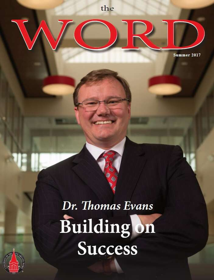 UIW President Thomas Evans on the summer issue of The Word, which received viral Reddit attention because many users believed they had spotted a photo-editing mishap, leaving the school official to have three hands. Photo: University Of The Incarnate Word