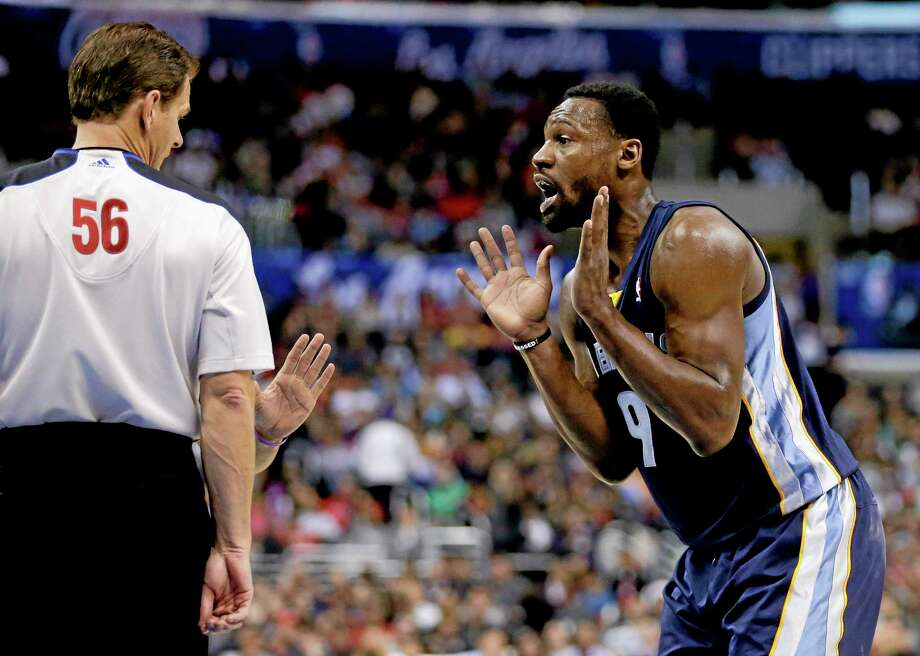 Memphis Grizzlies shooting guard Tony Allen was ejected from Monday's game in Los Angeles against the Clippers. Photo: Chris Carlson — The Associated Press   / AP