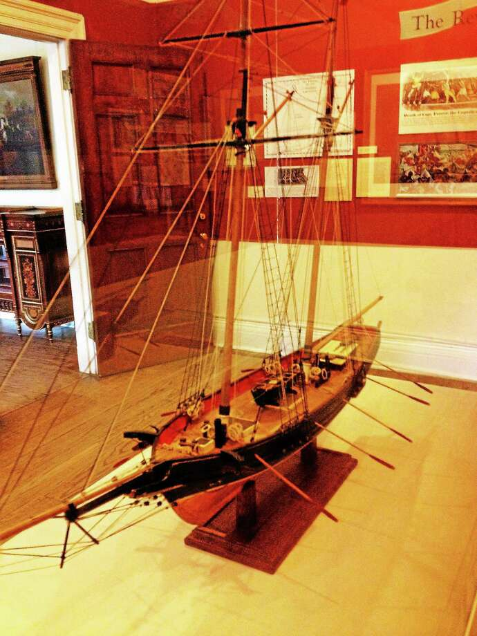 A replica of La Amistad on exhibit at the New Haven Musem Photo: Journal Register Co.