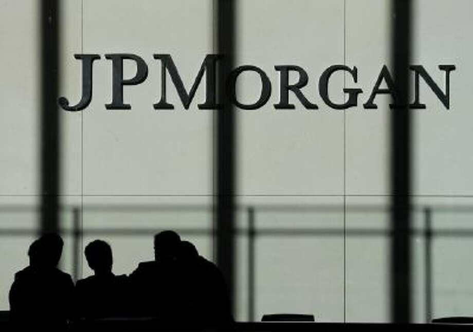The JPMorgan Chase & Co. logo is displayed Oct. 23 at their headquarters in New York.