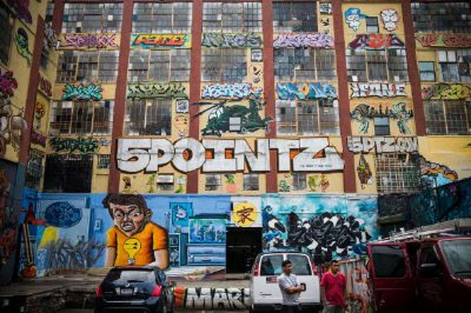 """The """"5 Pointz"""" building in the Long Island City neighborhood of the Queens borough of New York City on August 9, 2013. Photo: Getty Images / 2013 Getty Images"""