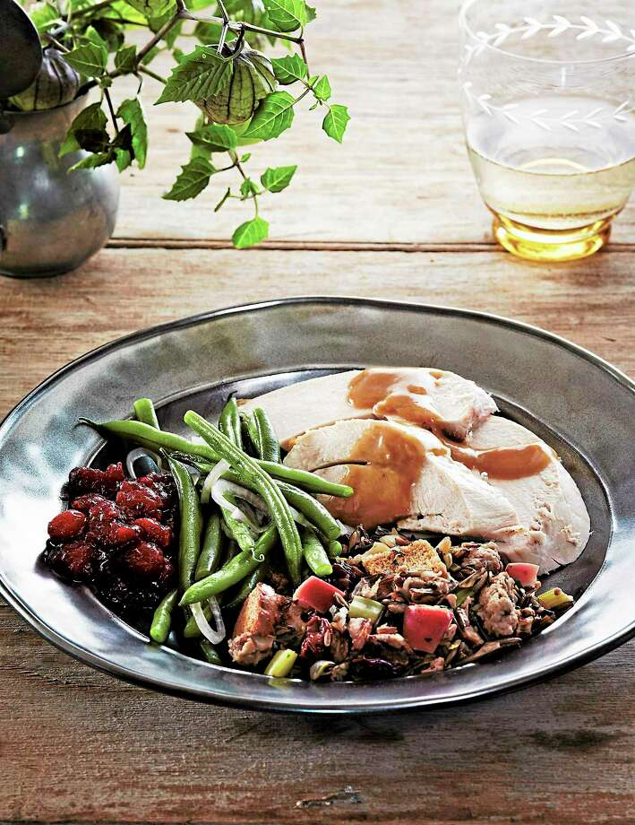 Sage-Rubbed Roast Turkey With Lemon-Bay Gravy Photo: Michael Graydon And Nikole Herriott — EatingWell