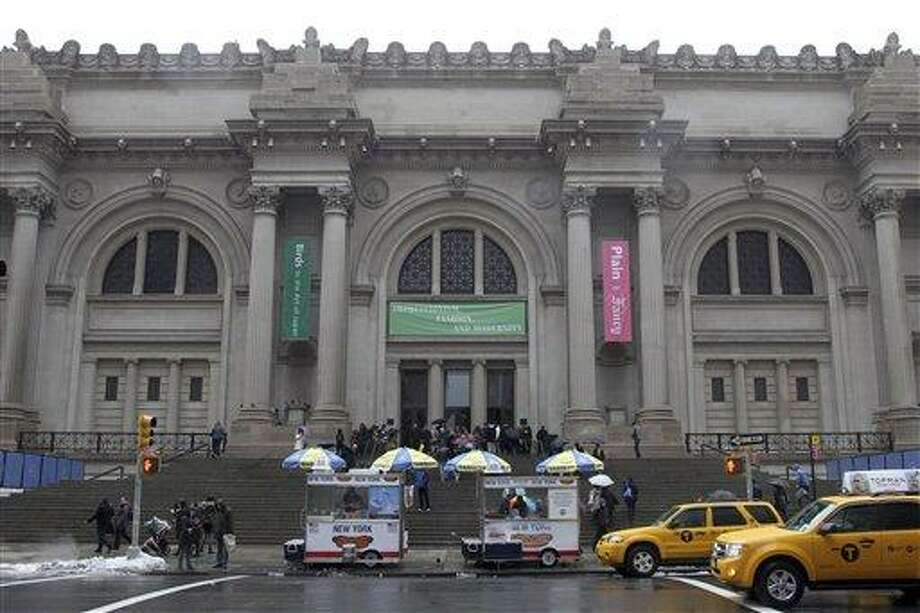 In this Tuesday, March 19, 2013 photo the exterior of the Metropolitan Museum of Art in New York is photographed. (AP Photo/Mary Altaffer) Photo: AP / AP