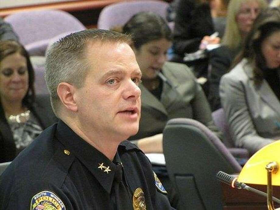 South Windsor Police Chief Matt Reed Photo by Hugh McQuaid, courtesy of CTNEWSJUNKIE