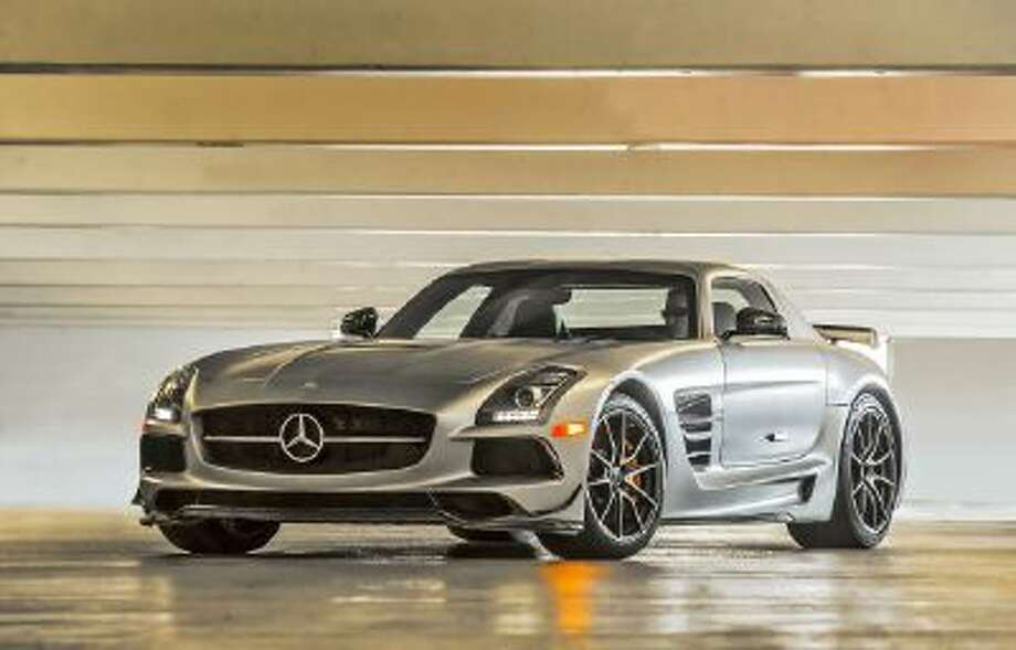 A 2014 Mercedes-Benz SLS AMG Black Series is shown in this handout photo taken on Oct. 11, 2013. The coupe's 196-mph top speed results from a 6.3-liter V-8 engine with 622 horsepower and 468 pound-feet of torque.