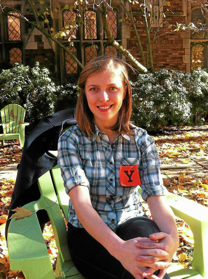 Hannah Nesser, a Yale undergraduate, supports divestiture. Photo: Journal Register Co.