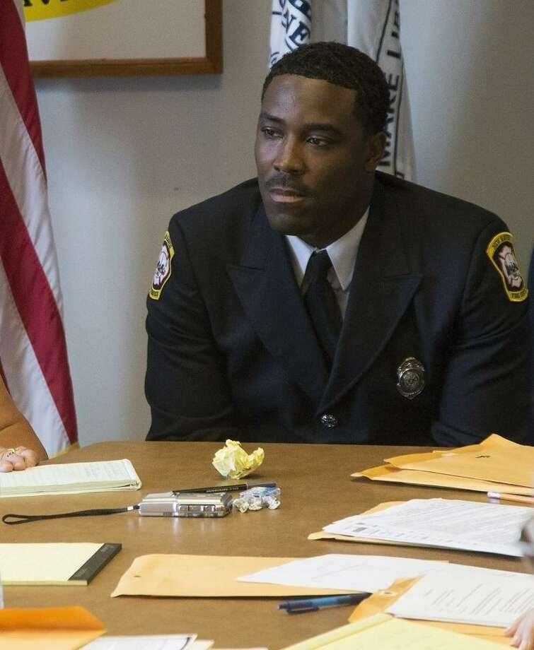 Firefighter Reginald Blakey. Rich Scinto/New Haven Register