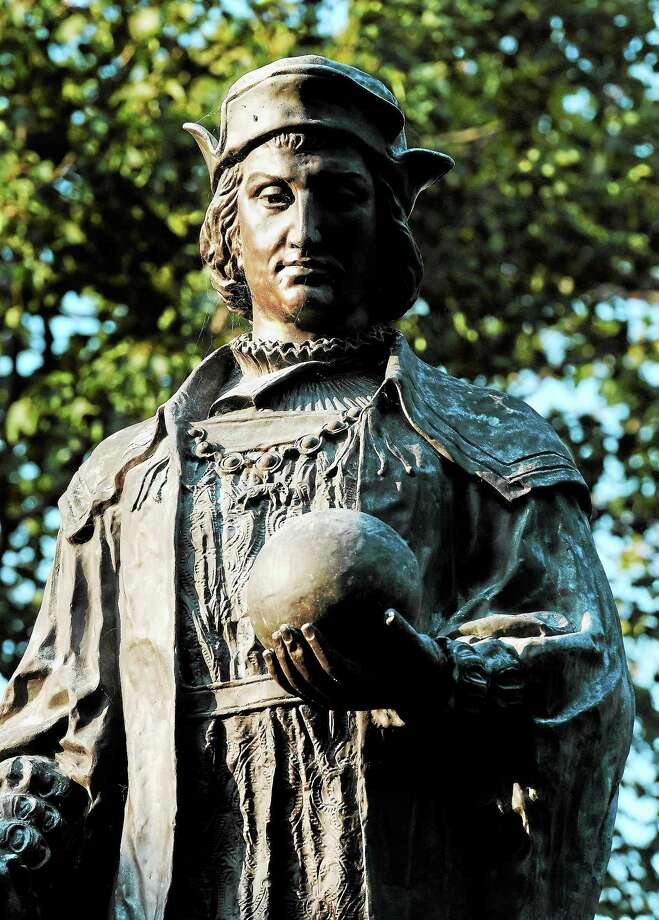 The tour starts at the foot of the Christopher Columbus statue. Photo: Arnold Gold — Register File Photo