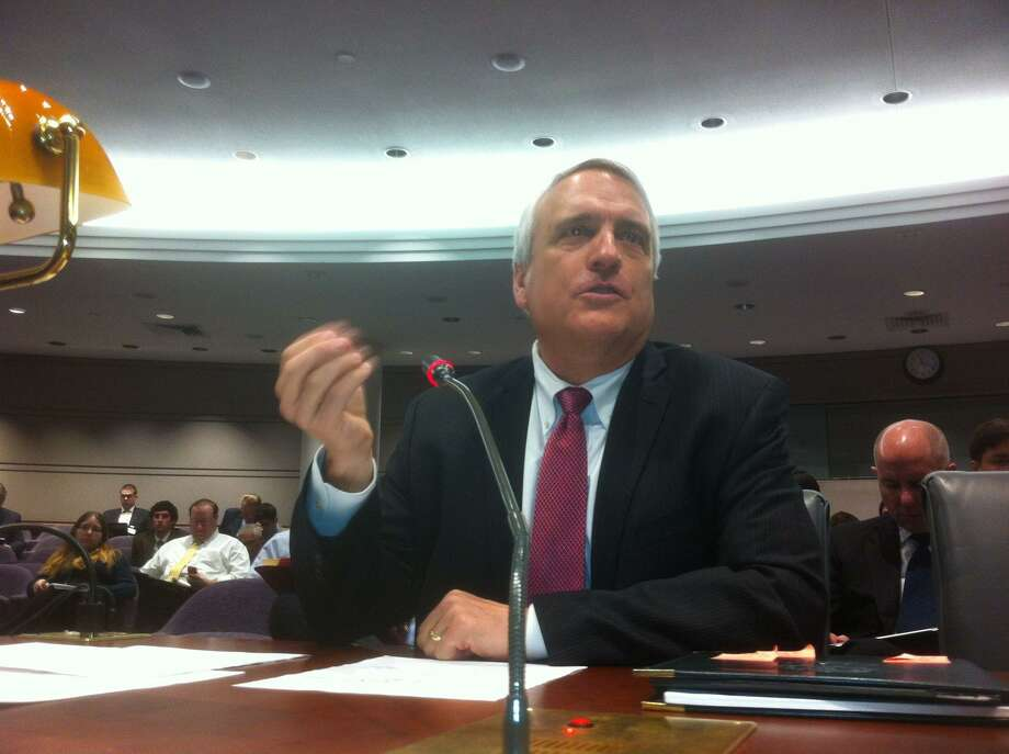 Bill Ritter, the former governor of Colorado, speaks Thursday at the first meeting of the Sandy Hook Advisory Commission at the Hartford Capitol. Ritter was the District Attorney in Denver during the 1999 Columbine shootings. Peter Hvizdak/Register
