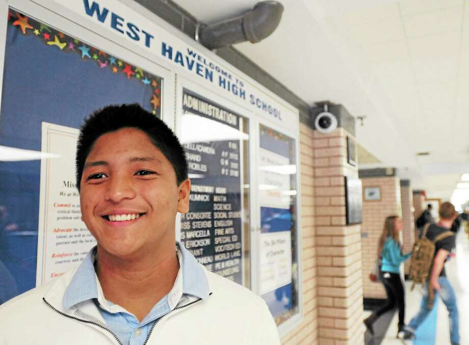 (Peter Hvizdak — New Haven Register)Geordann Daguplo, a senior at West Haven High School and has family in the Philippines in the area affected by Typhoon Haiyan. He is starting a donation drive at WHHS to help people affected. His collection is associated with the Philippine-American Association of Connecticut, Inc. Photo: New Haven Register / ©Peter Hvizdak /  New Haven Register