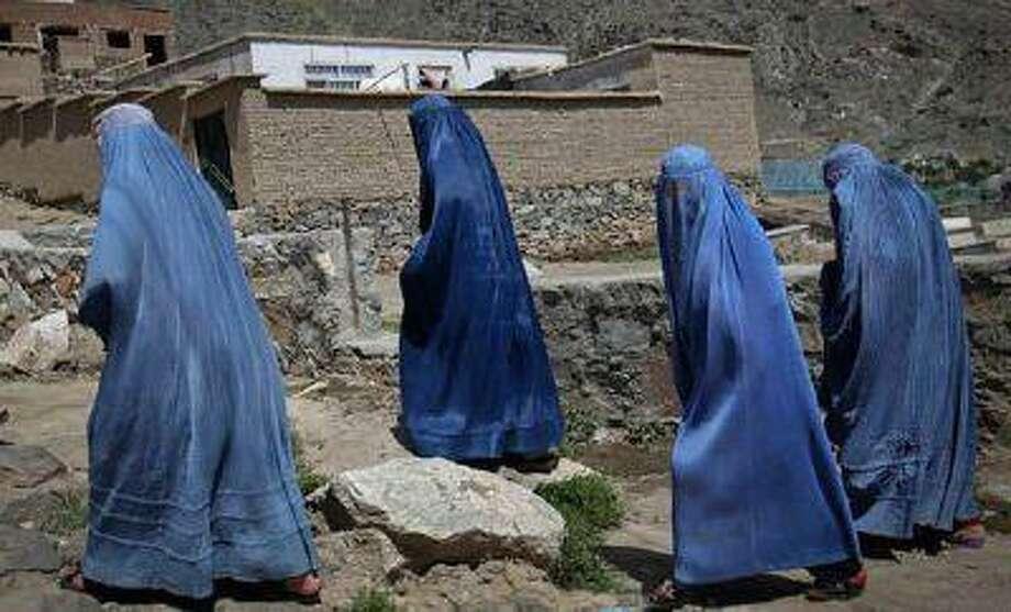 Burqa clad women in Afghanistan