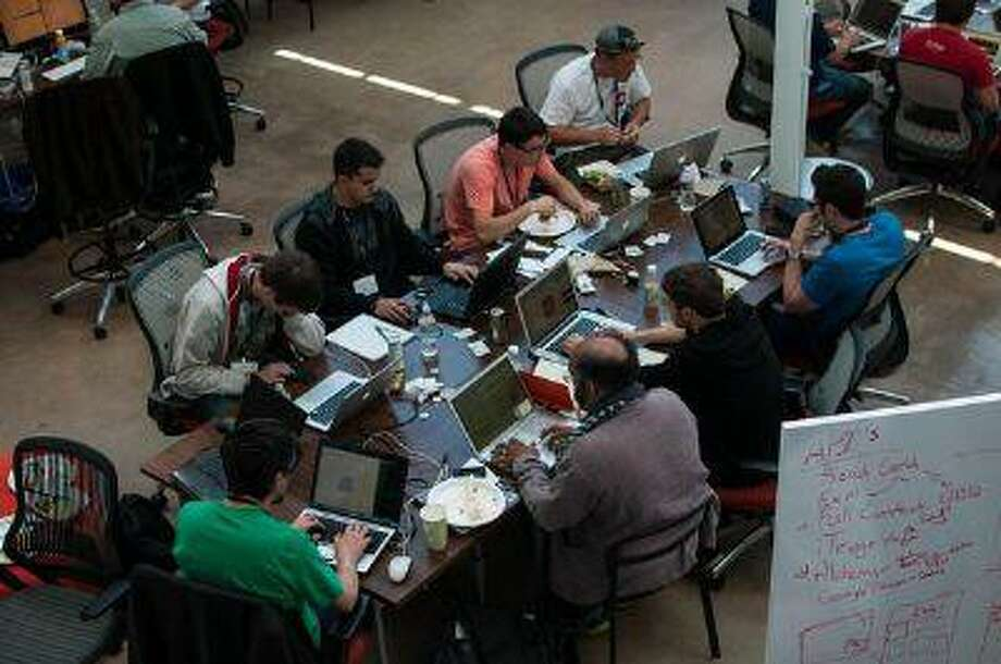 About 100 hackers attended the recent Hack4Colorado event at Galvanize in the Golden Triangle area. (Courtesy: Hack4Colorado) Photo: POST_UPLOAD / The Denver Post