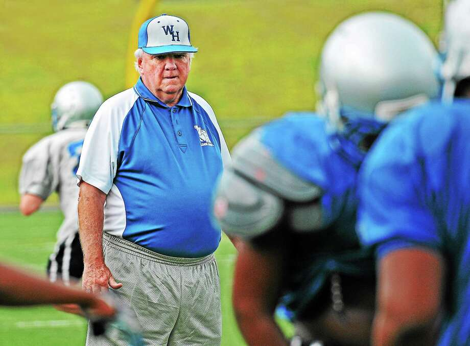 Peter Casolino — Register  Coach Ed McCarthy and the West Haven football team will open their season at Greenwich on Thursday. Photo: Journal Register Co.