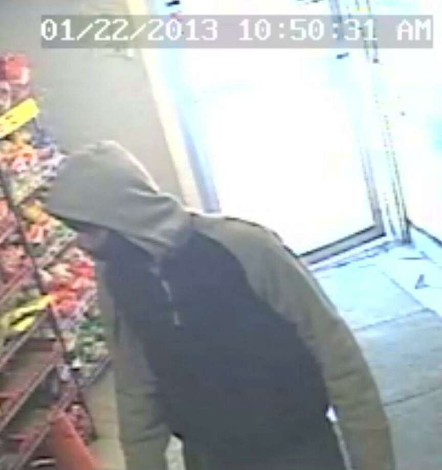 Image from surveillance camera that shows the suspect in Tuesday's Orchard Street homicide.