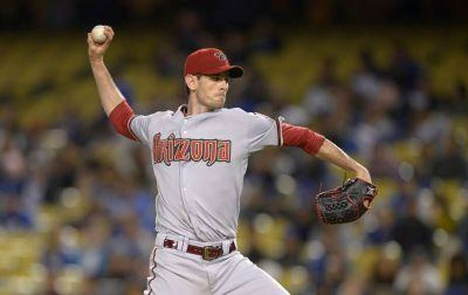Arizona Diamondbacks starting pitcher Brandon McCarthy throws to the plate during the fifth inning of their baseball game against the Los Angeles Dodgers, Tuesday, May 7, 2013, in Los Angeles. Photo: AP / AP