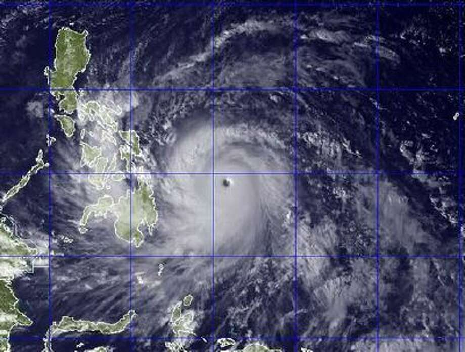 This image provided by the U.S. Naval Research Lab shows Typhoon Haiyan taken by the NEXSAT satellite Thursday Nov. 7, 2013 at 2:30 a.m. ET. Photo: ASSOCIATED PRESS / AP2013