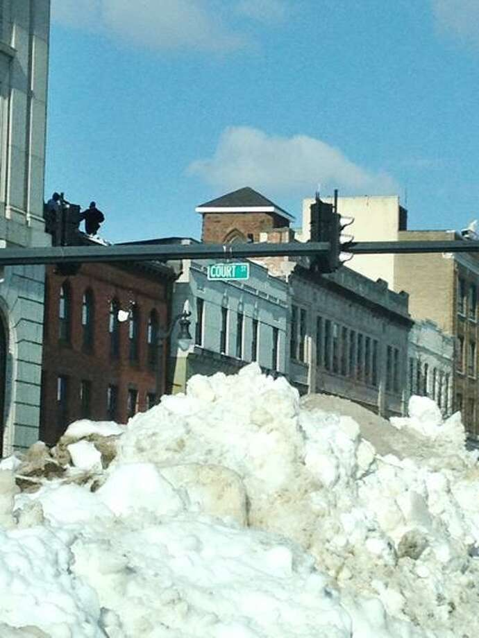Lauren Sievert/The Middletown Press Intersection of Court and Main Stret in Middletown