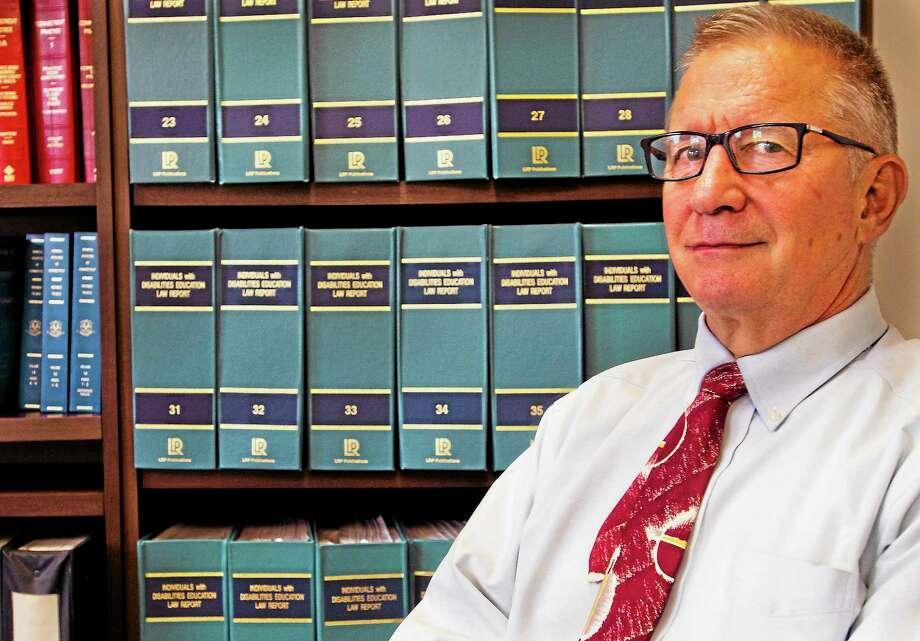 Melanie Stengel — New Haven Register        Lawyer David Shaw in his Bloomfield office. Photo: Journal Register Co.