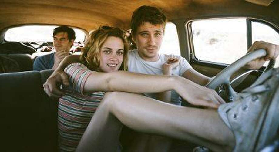 "Sam Riley, left, Kristen Stewart and Garrett Hedlund appear in a too careful adaptation of Jack Kerouac's novel ""On the Road."" (Photo Credit: Gregory Smith) Photo: The Washington Post / WASHINGTON POST"