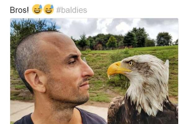 """Bros! #baldies,"" Spur Manu Ginobili said on Twitter."