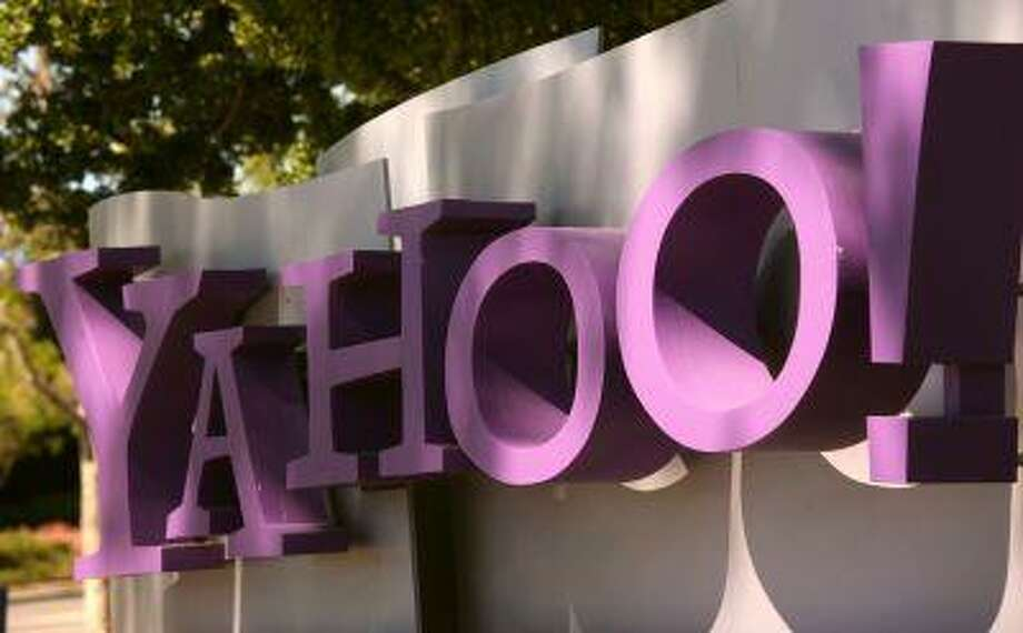 The Yahoo logo is shown at the company's headquarters in Sunnyvale, California April 16, 2013. The company will release its quarterly results on Tuesday. Photo: REUTERS / X90034