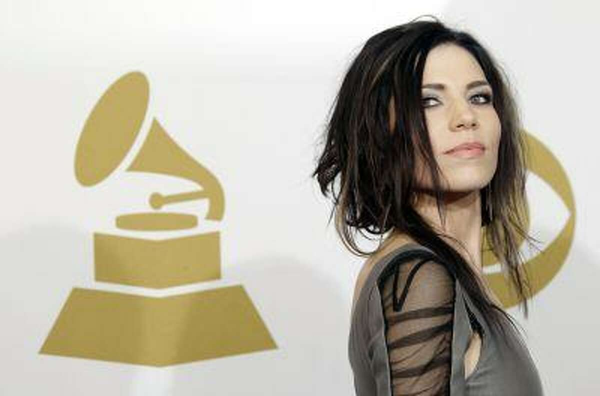 Skylar Grey poses backstage at the 53rd annual Grammy Awards on Sunday, Feb. 13, 2011, in Los Angeles. (AP Photo/Jae C. Hong)