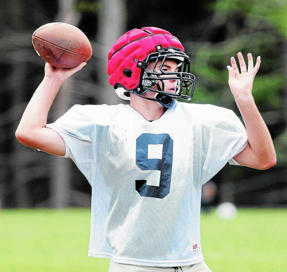 Kyle Chuduba will be the starting quarterback for the Oxford football team this season. Photo: Arnold Gold — Register