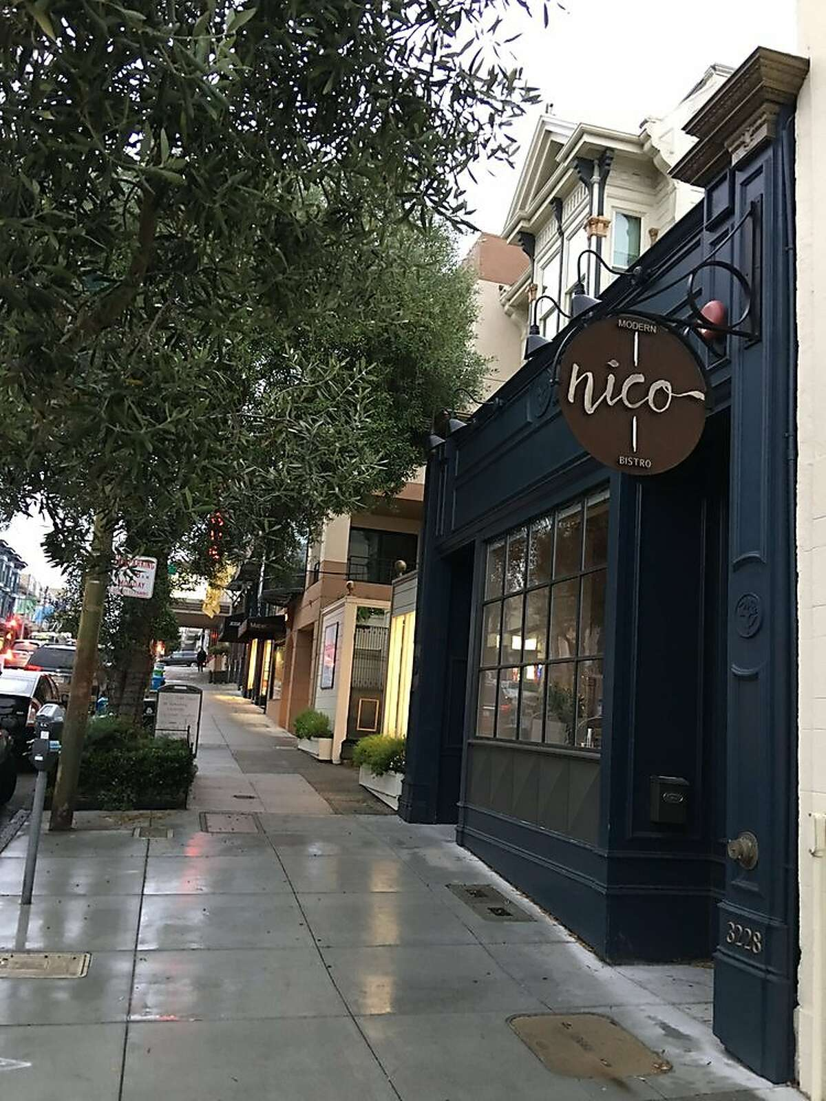 Nico's 3228 Sacramento St. space will close on Aug. 26. The restaurant will reopen in the former Bocadillos space in Jackson Square.