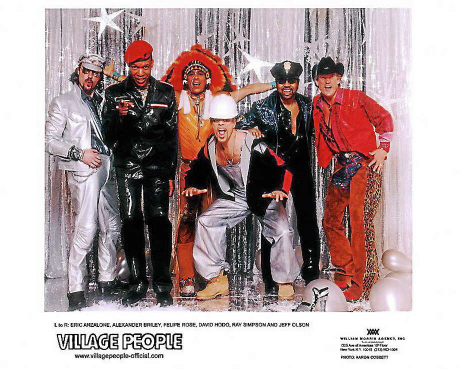 The Village People headline Saturday at the Norwalk Oyster Festival. Photo: Aaron Cobbet