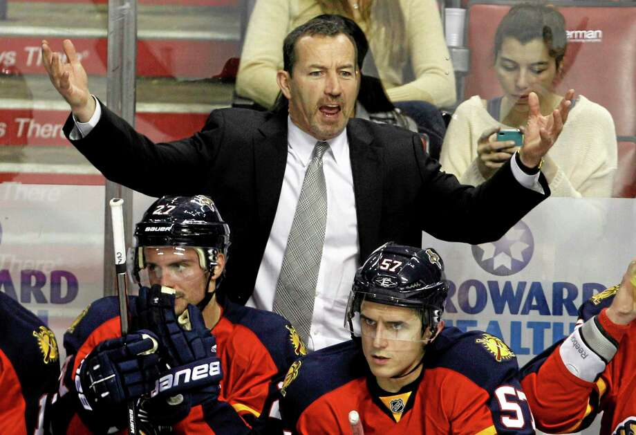 The Florida Panthers fired head coach Kevin Dineen on Friday, one day after their losing streak reached seven with a 4-1 loss at Boston. Also fired were assistants Gord Murphy and Craig Ramsay. Peter Horachek is the Panthers' interim head coach. Photo: Lynne Sladky — The Associated Press   / AP