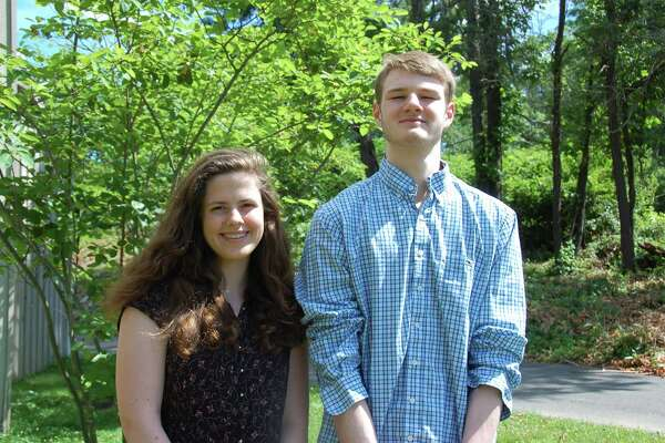 Catherine Cinguina and Daniel Gassel, graduating seniors from Wilton High School's Class of 2017.