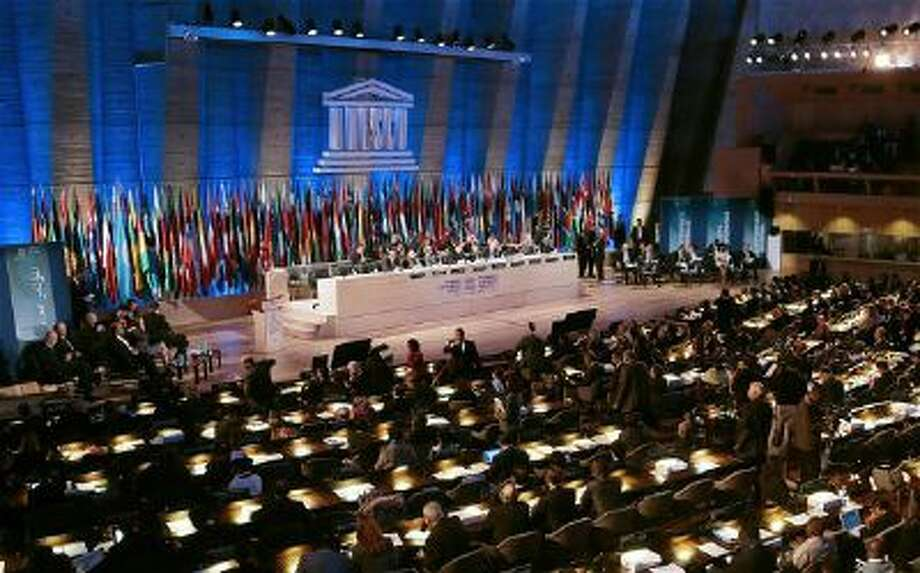 The Unesco Forum of Leaders meeting in Paris.