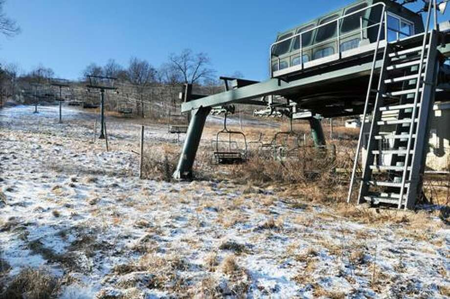 The ski lifts at Powder Ridge in Middlefield in this January 2012 file photo by Catherine Avalone. / TheMiddletownPress