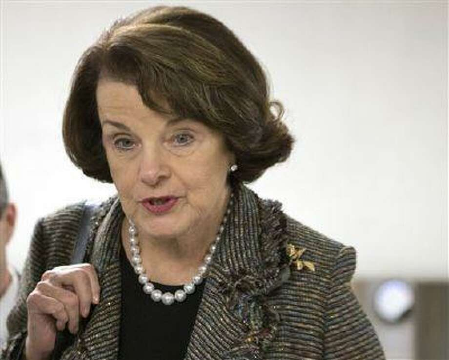 In this Feb. 25, 2013 file photo, Sen. Dianne Feinstein, D-Calif., speaks with reporters on Capitol Hill in Washington. Photo: AP / AP