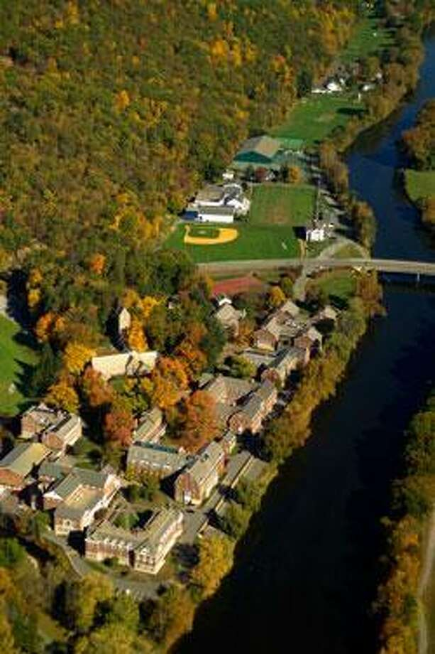 An aerial view of the Kent School campus from the Web site of the Litchfield Jazz Festival, which held its festival at the school in recent years before moving back to the Goshen Fairgrounds.