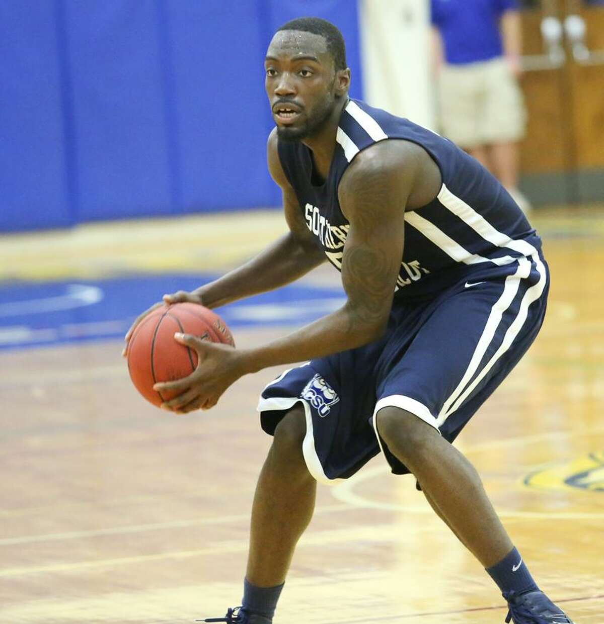 Trevon Hamlet had 14 points and seven rebounds in SCSU's win over Merrimack Saturday. (Submitted photo)