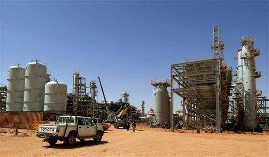 """FILE - This is a  April 19, 2005 fiel photo released by Statoil via NTB scanpix, shows the Ain Amenas gas field in Algeria, where Islamist militants raided and took hostages Wednesday Jan. 16, 2013. British Prime Minister David Cameron said Algerian forces are """"still pursuing terrorists"""" and looking for hostages at an oil installation in the Sahara desert.  Cameron told lawmakers Friday Jan. 18, 2013 that Algerian troops were still engaged in an operation to secure a """"large and complex site.""""  (AP Photo/Kjetil Alsvik, Statoil via NTB scanpix, File) NORWAY OUT Photo: AP / Statoil via NTB scanpix"""