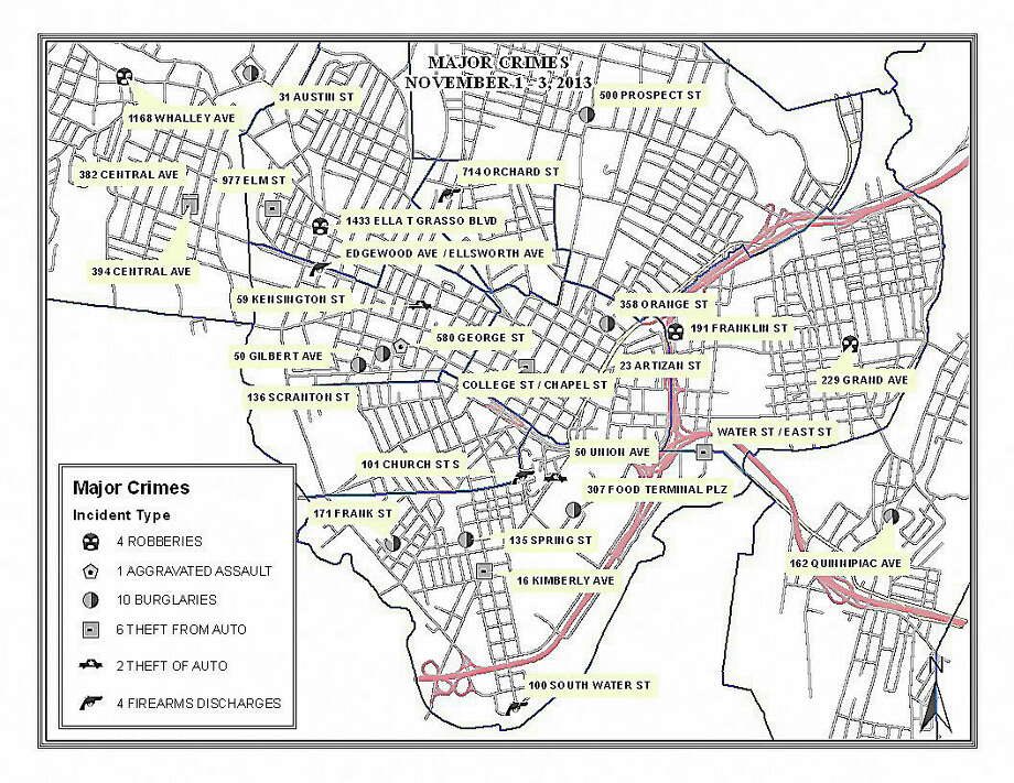 A sample crime map from Flash Sheet. Photo: Journal Register Co.
