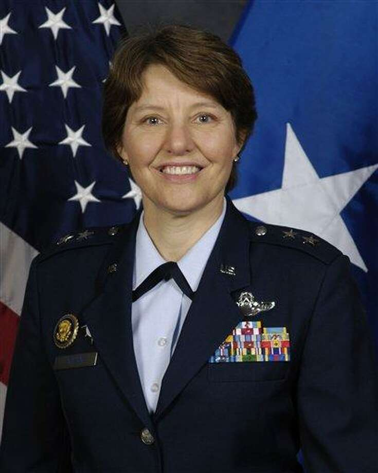 "This undated image provided by the U.S. Air Force shows Maj. Gen. Michelle D. Johnson. Johnson's appointment to become the first woman to command the Air Force Academy marks another breach of the ""brass ceiling"" that keeps women from top assignments in the military an advocacy group said Monday March 3, 2013. Johnson is believed to be the second woman appointed to command a service academy, after Coast Guard Rear Adm. Sandra Stosz at the Coast Guard Academy. (AP Photo/U.S. Air Force) Photo: AP / US Air Force"