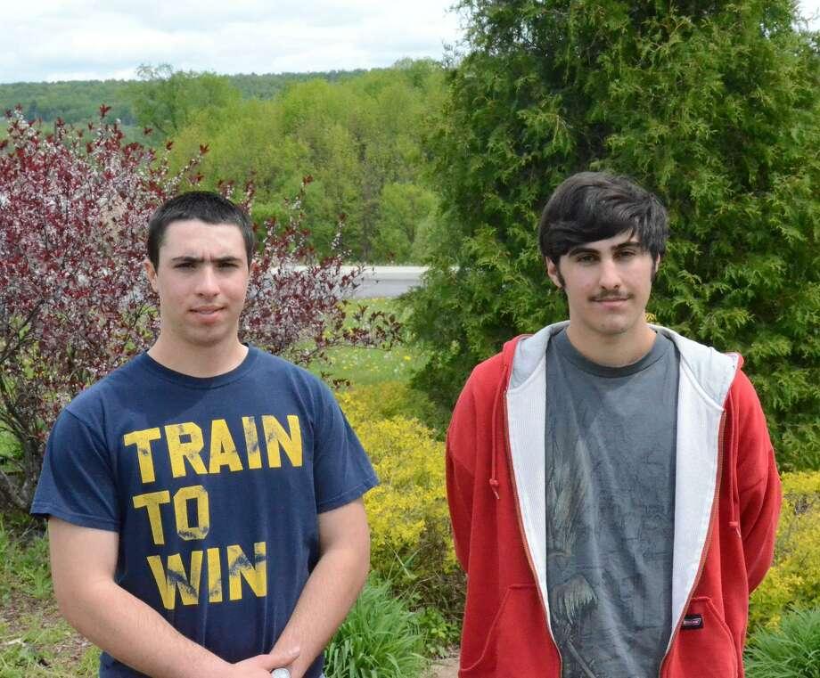 Nick Will/Oneida Daily Dispatch Valley Valedictorian Tim Meeker and Salutatorian Matthew Papa.