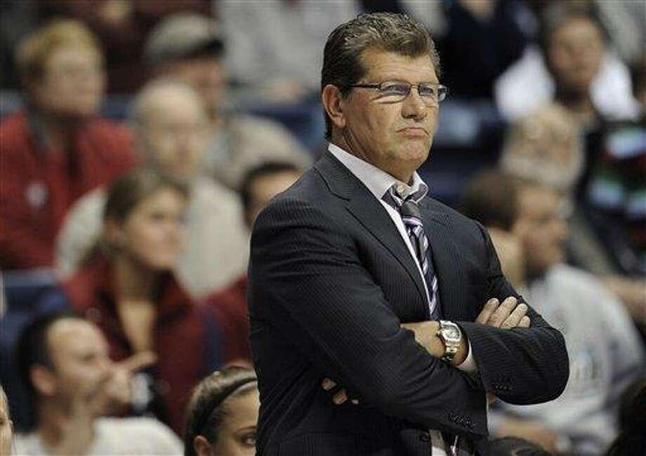 Connecticut head coach Geno Auriemma. (AP Photo/Jessica Hill) Photo: ASSOCIATED PRESS / A2012